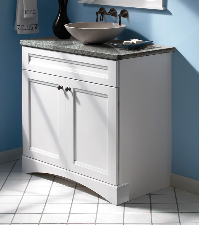 kraftmaid clean lines and the cove valance provide a universal appealjpg - Bathroom Cabinets Kraftmaid